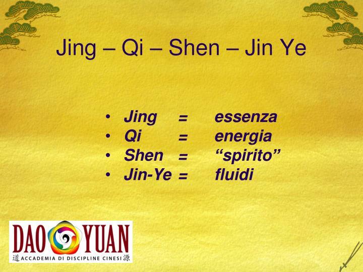 Jing – Qi – Shen – Jin Ye