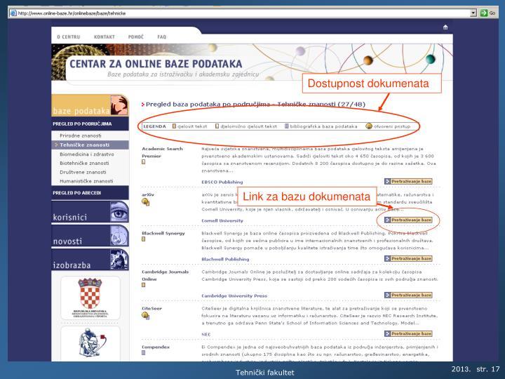 Dostupnost dokumenata