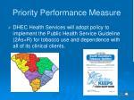 priority performance measure