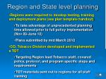 region and state level planning