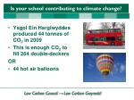 is your school contributing to climate change