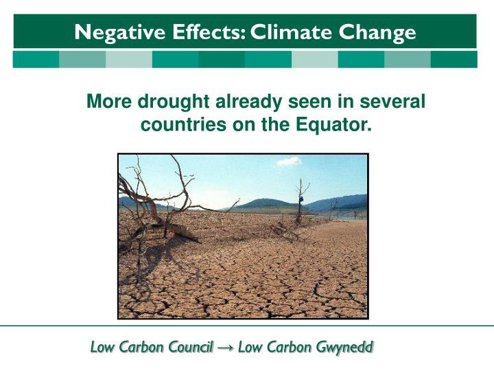 More drought already seen in several countries on the Equator.