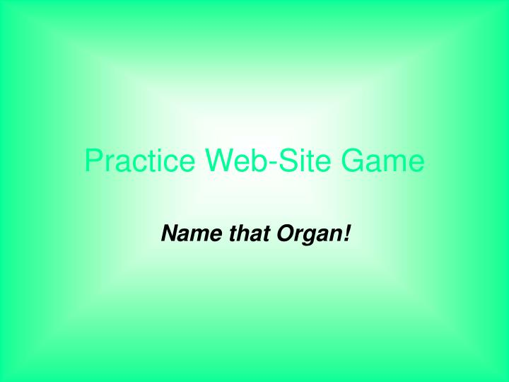 practice web site game