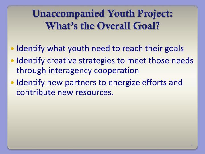 Unaccompanied Youth Project: