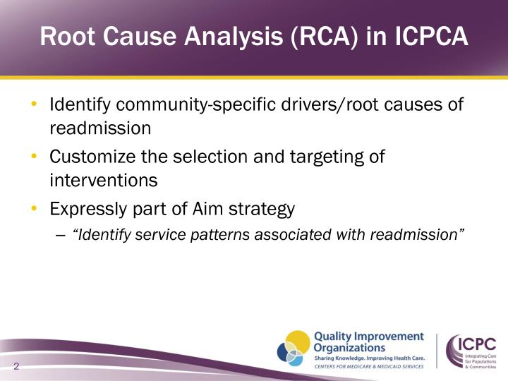 Root Cause Analysis (RCA) in ICPCA