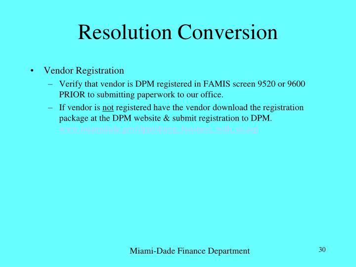 Resolution Conversion