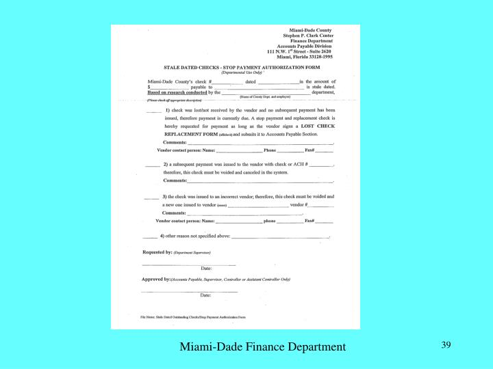Miami-Dade Finance Department