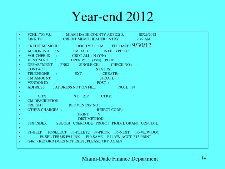 Year-end 2012