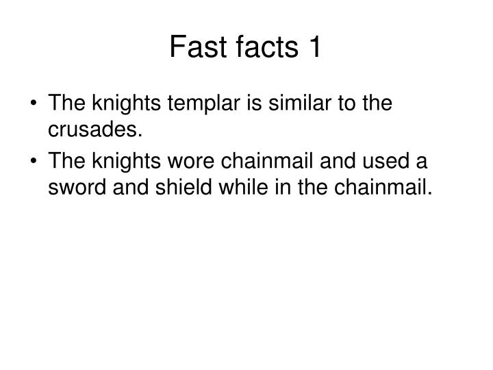 Fast facts 1