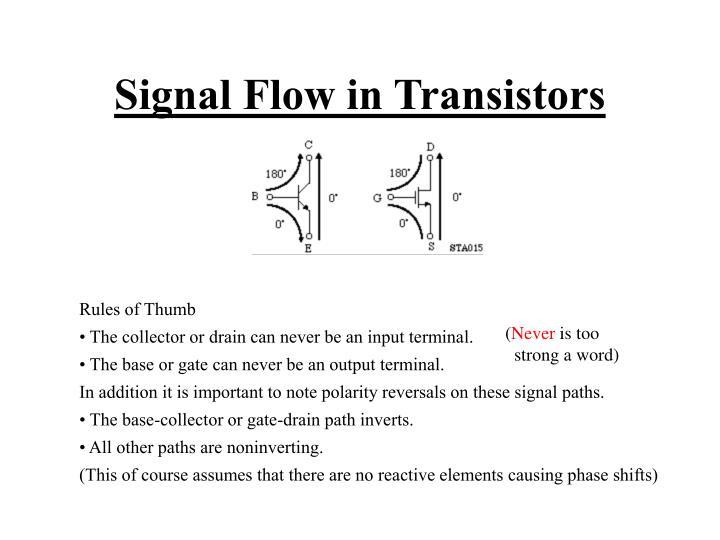 Signal Flow in Transistors