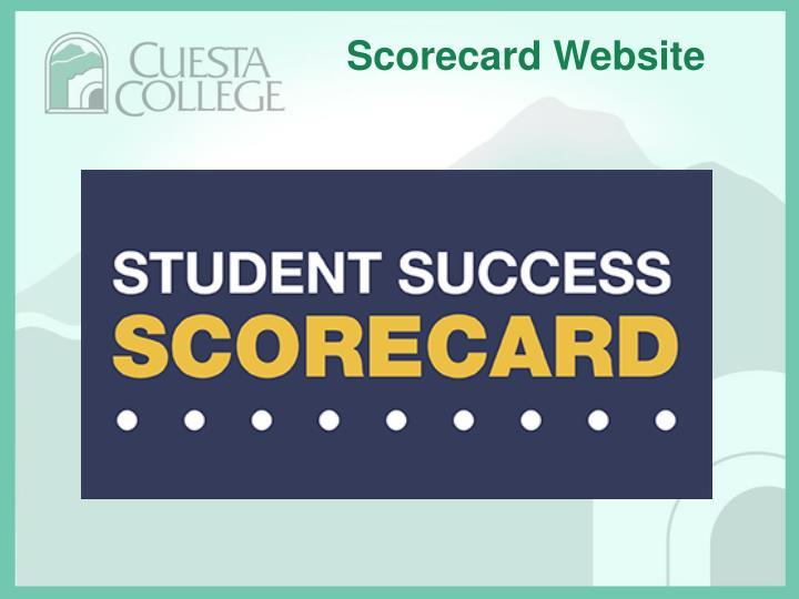 Scorecard Website