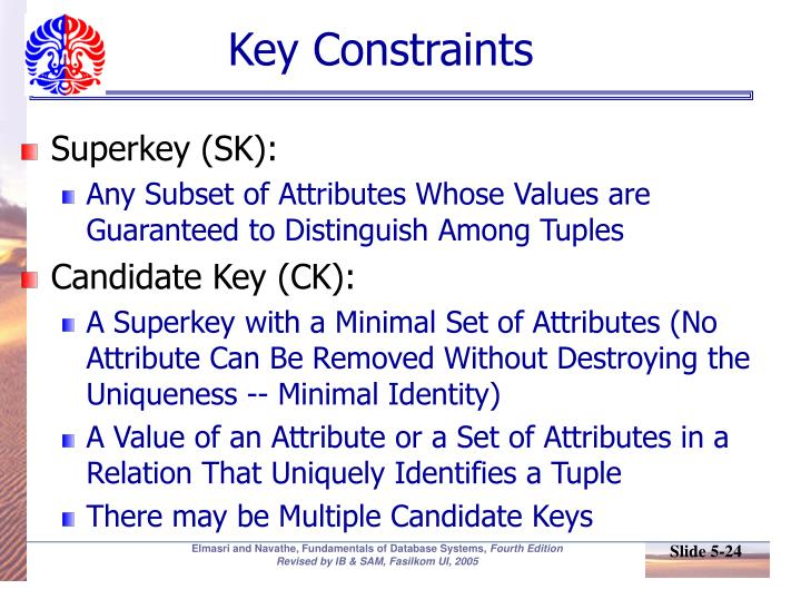 Key Constraints