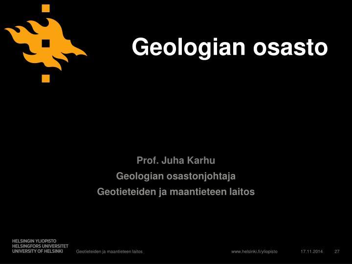 Geologian osasto