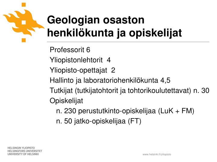 Geologian osaston