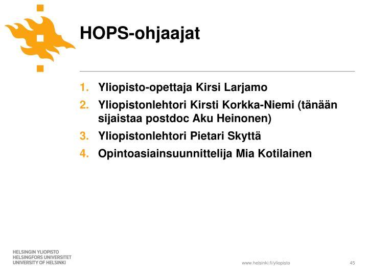 HOPS-ohjaajat