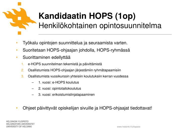 Kandidaatin HOPS