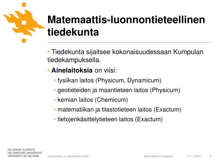 Matemaattis-luonnontieteellinen tiedekunta