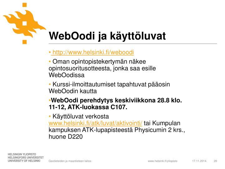 WebOodi