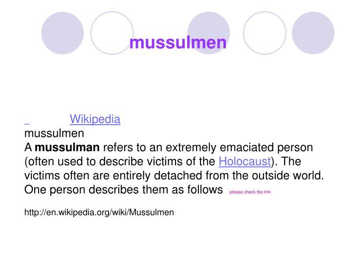 mussulmen