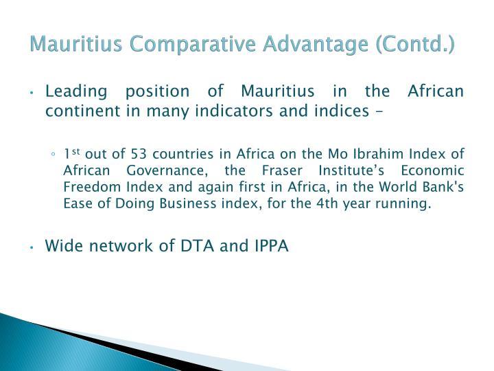 Mauritius Comparative Advantage (Contd.)