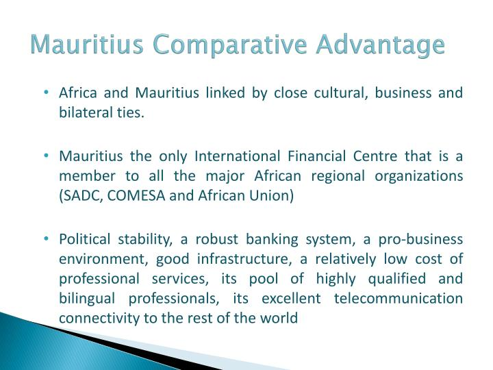 Mauritius Comparative Advantage