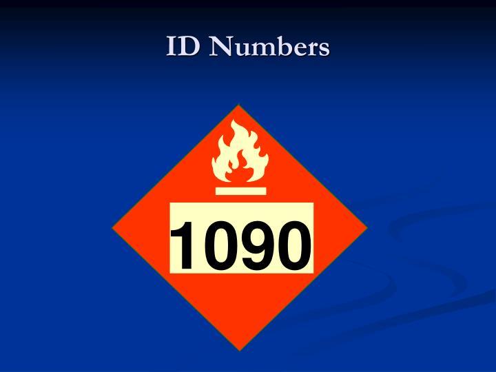 ID Numbers