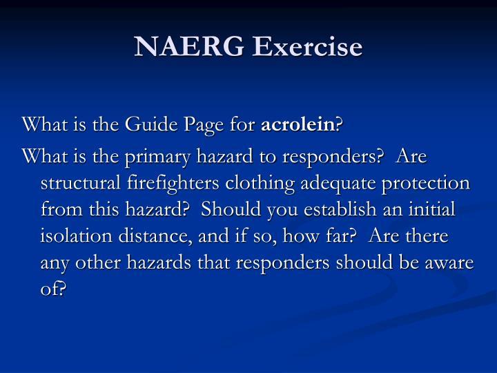NAERG Exercise