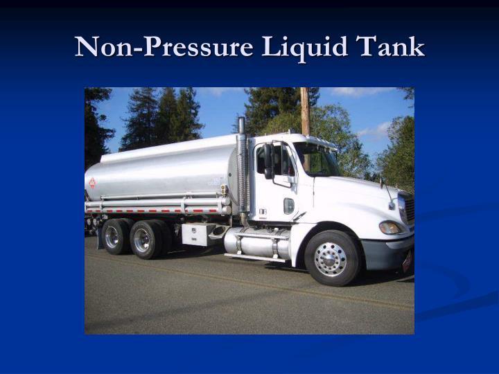 Non-Pressure Liquid Tank