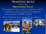 training rule wac 296 824 300 operations level1