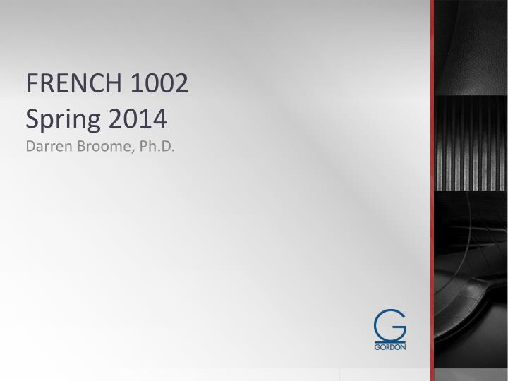 FRENCH 1002