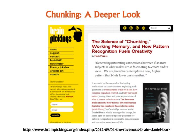Chunking: A Deeper Look