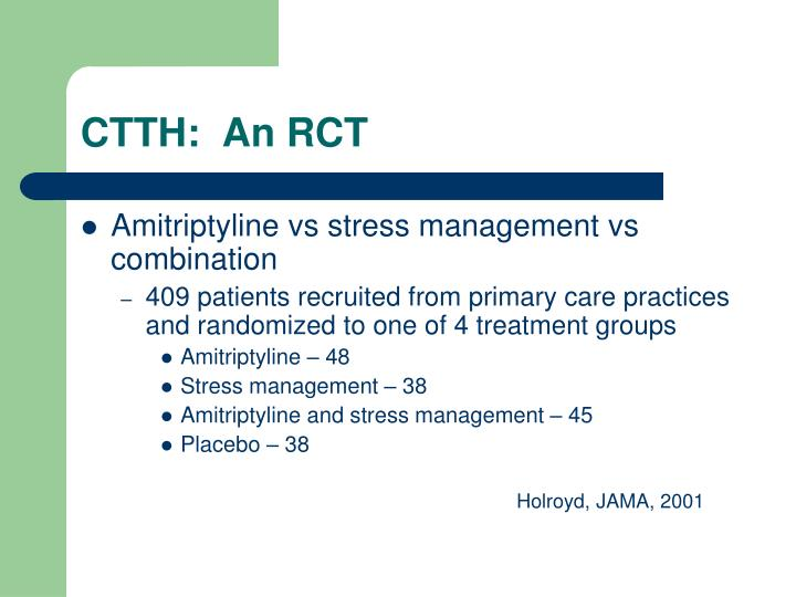 CTTH:  An RCT