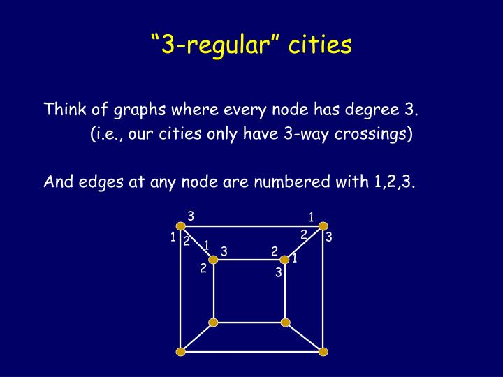 """3-regular"" cities"