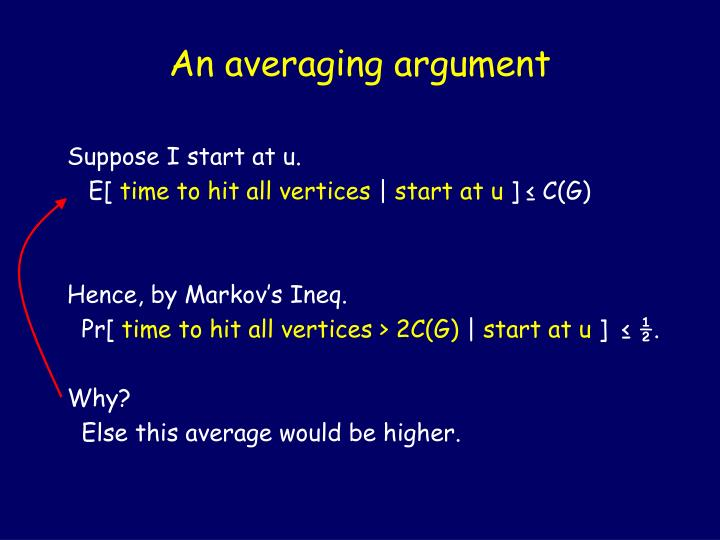 An averaging argument