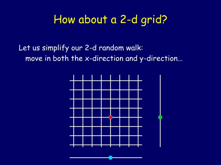 How about a 2-d grid?