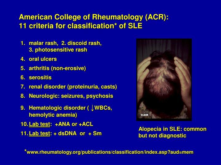 American College of Rheumatology (ACR):