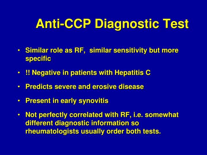 Anti-CCP Diagnostic Test
