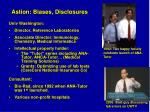 astion biases disclosures