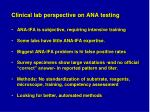 clinical lab perspective on ana testing