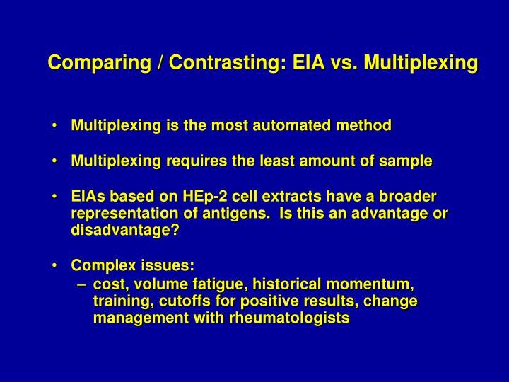 Comparing / Contrasting: EIA