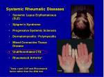 systemic rheumatic diseases1