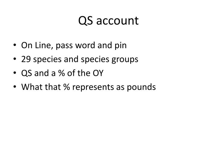 QS account