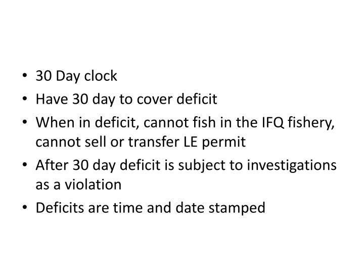 30 Day clock