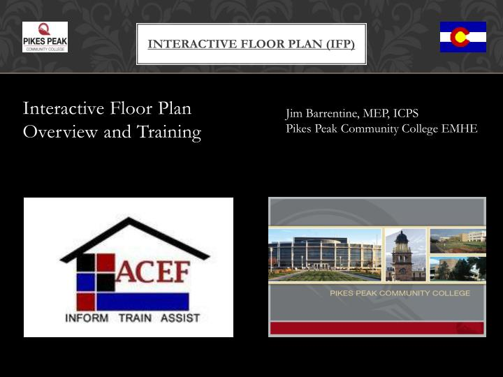 Interactive floor plan ifp