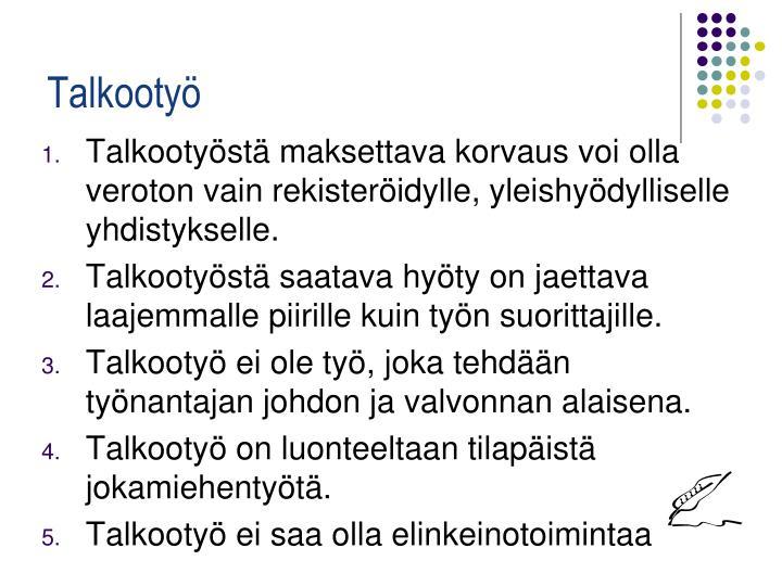Talkootyö