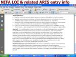 nifa loi related aris entry info1