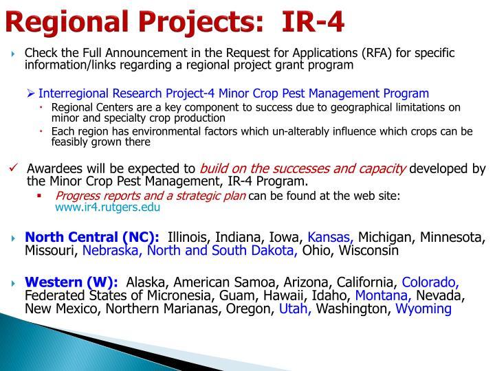 Regional Projects:  IR-4
