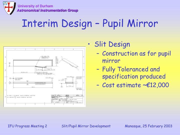 Interim Design – Pupil Mirror