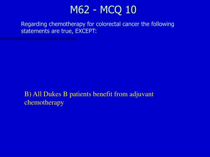 M62 - MCQ 10