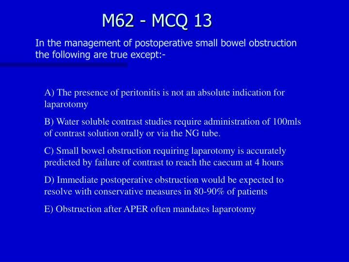 M62 - MCQ 13